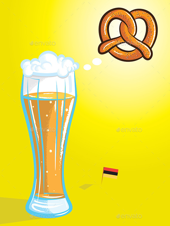 Beer and Pretzel - Food Objects