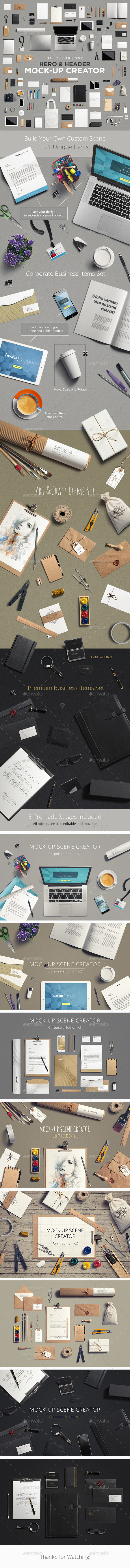 Multipurpose Mock-Up Creator - Hero Images Graphics