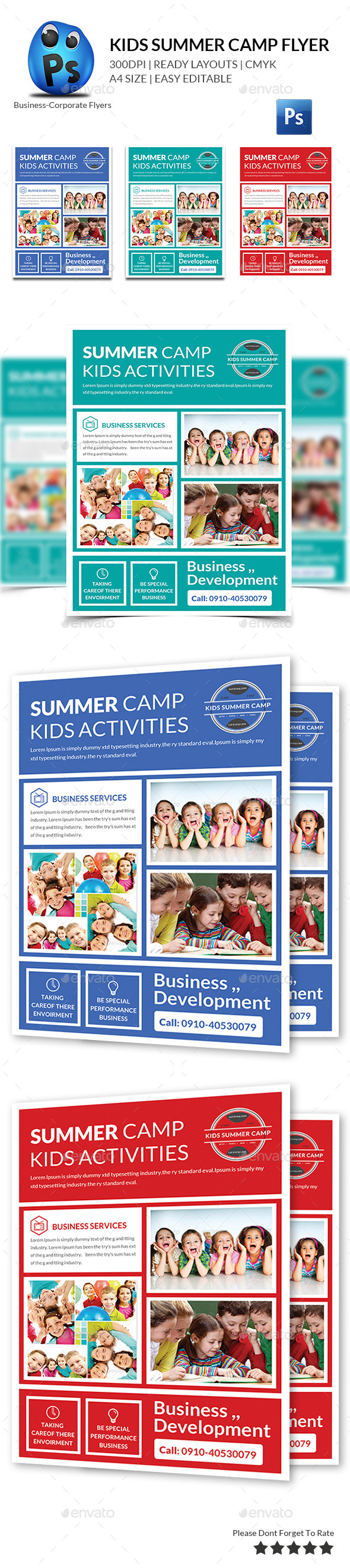 Kids Summer Flyers Print Templates - Corporate Flyers