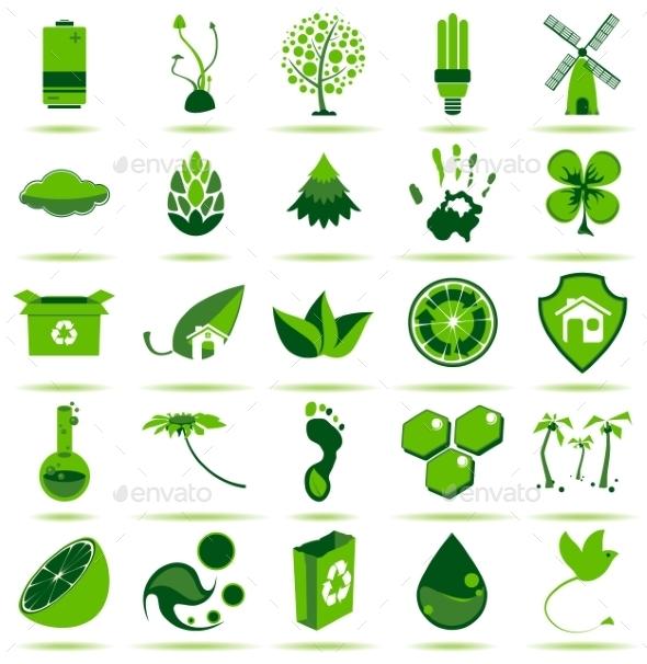 Green Eco Icons 2 - Web Elements Vectors
