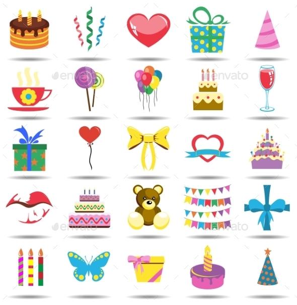 Happy Birthday Icons - Birthdays Seasons/Holidays