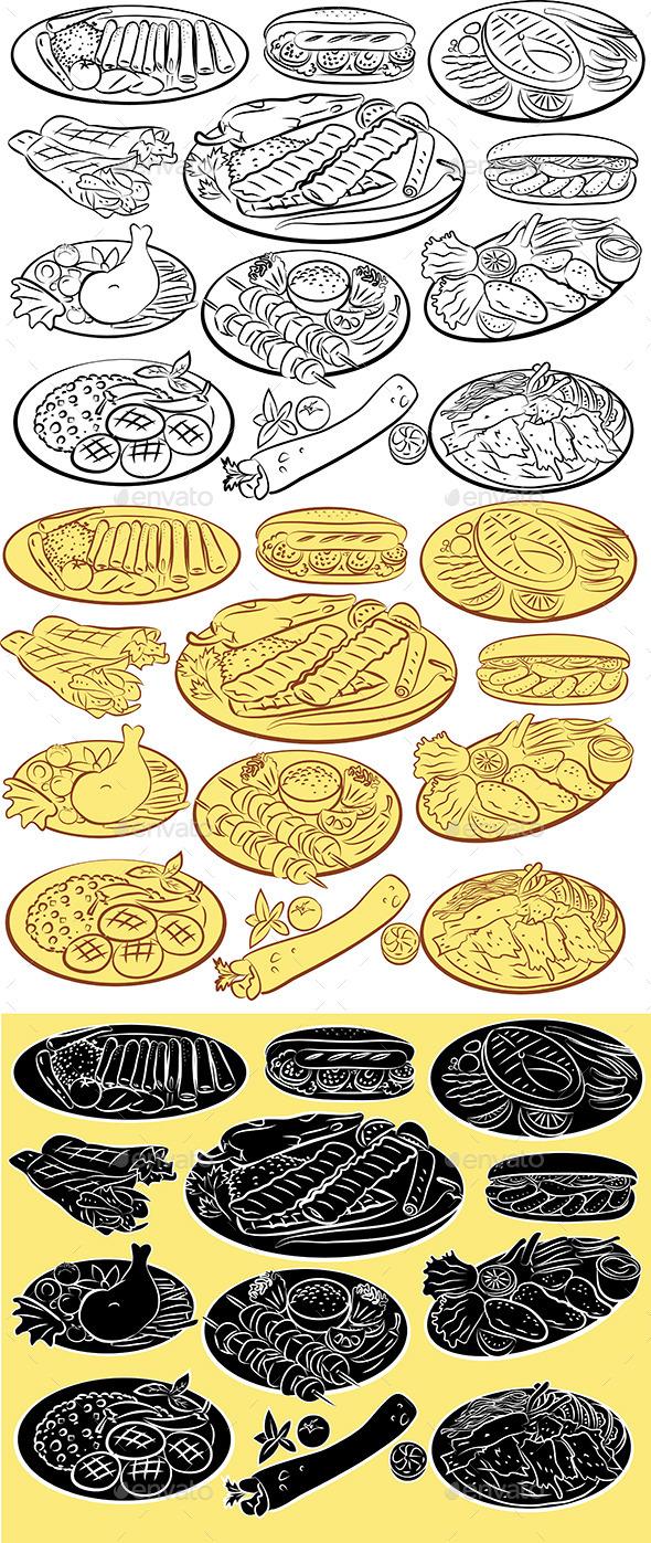Kebab Vector - Food Objects