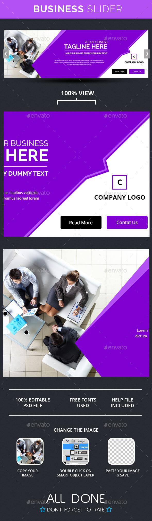 Business Slide V5 - Sliders & Features Web Elements