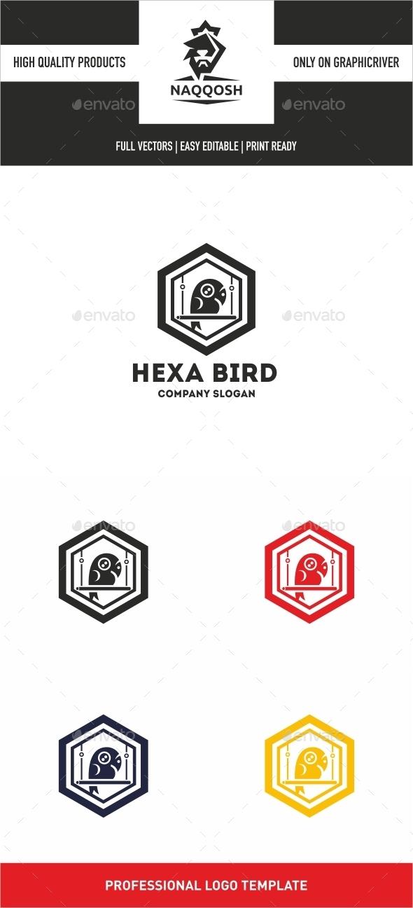 Hexa Bird - Logo Templates