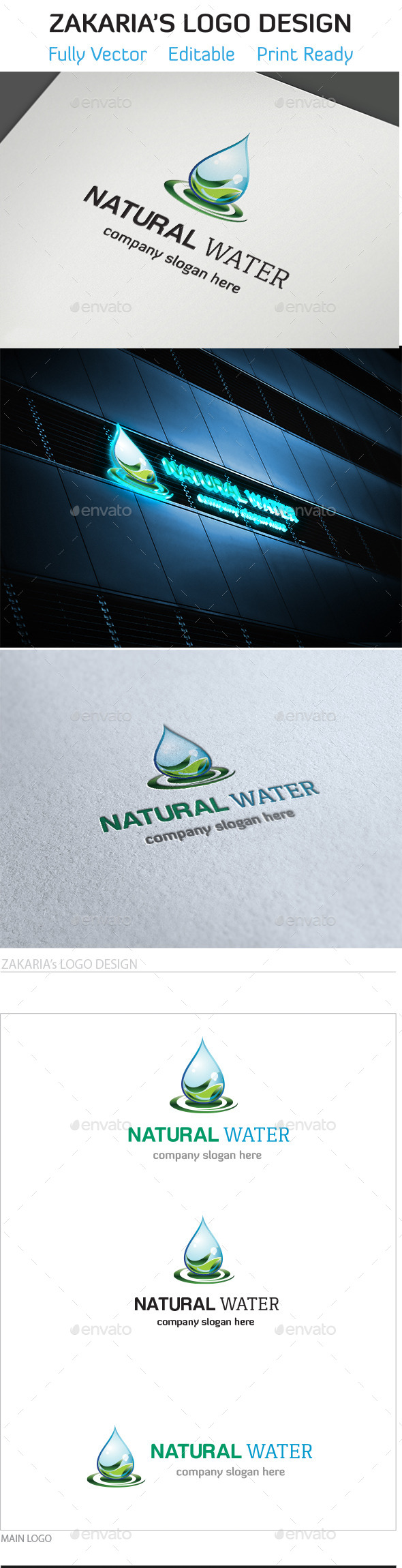 Natural Water - Nature Logo Templates