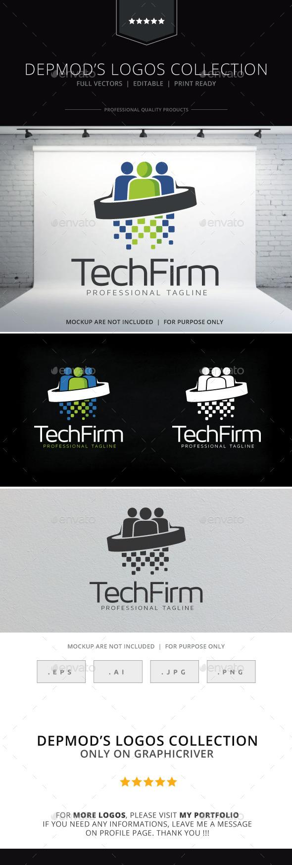 Tech Firm Logo - Humans Logo Templates