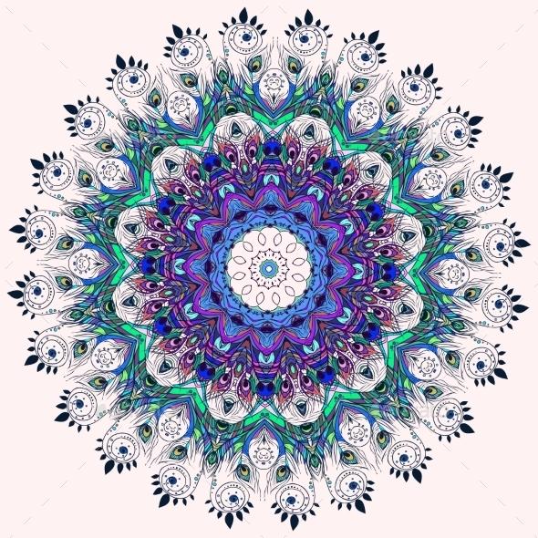 Feather Mandala - Patterns Decorative