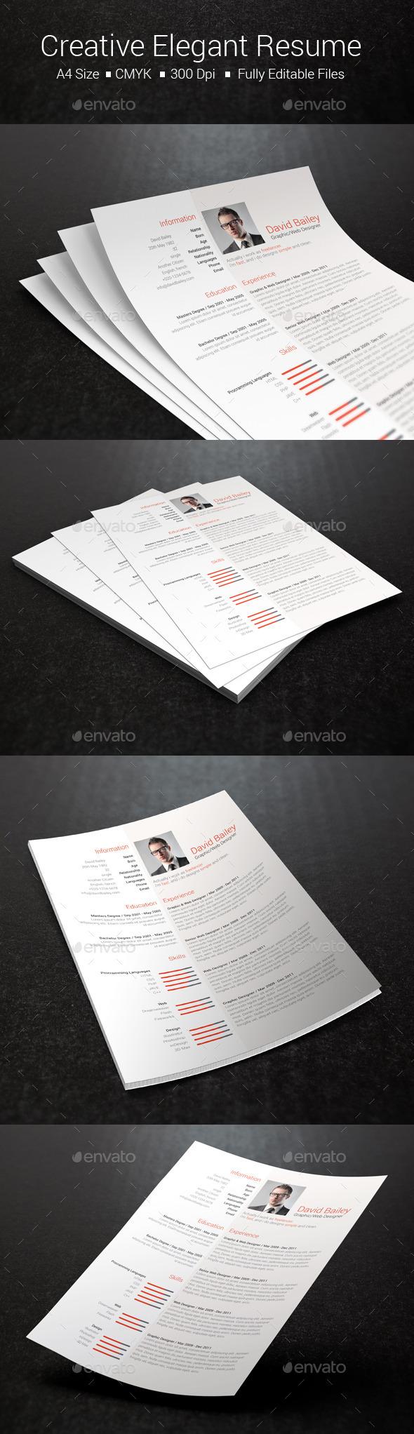 Creative Elegant Resume - Resumes Stationery