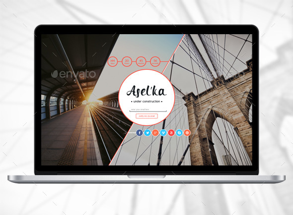 Asel'ka - 404 Pages Web Elements