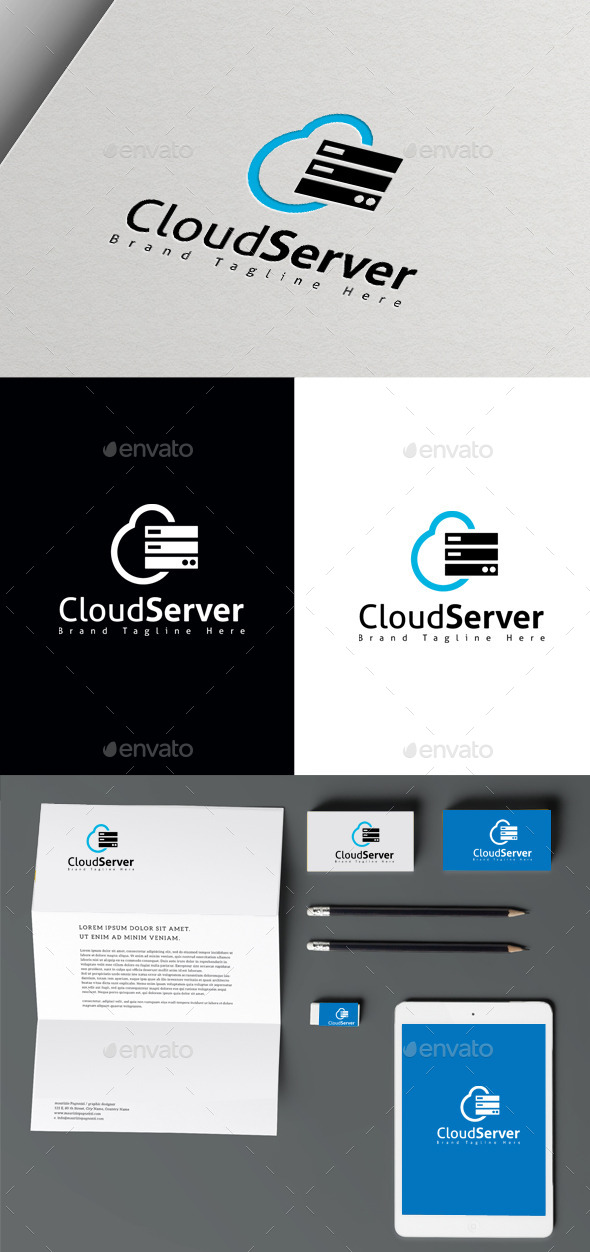 Cloud Server - Symbols Logo Templates