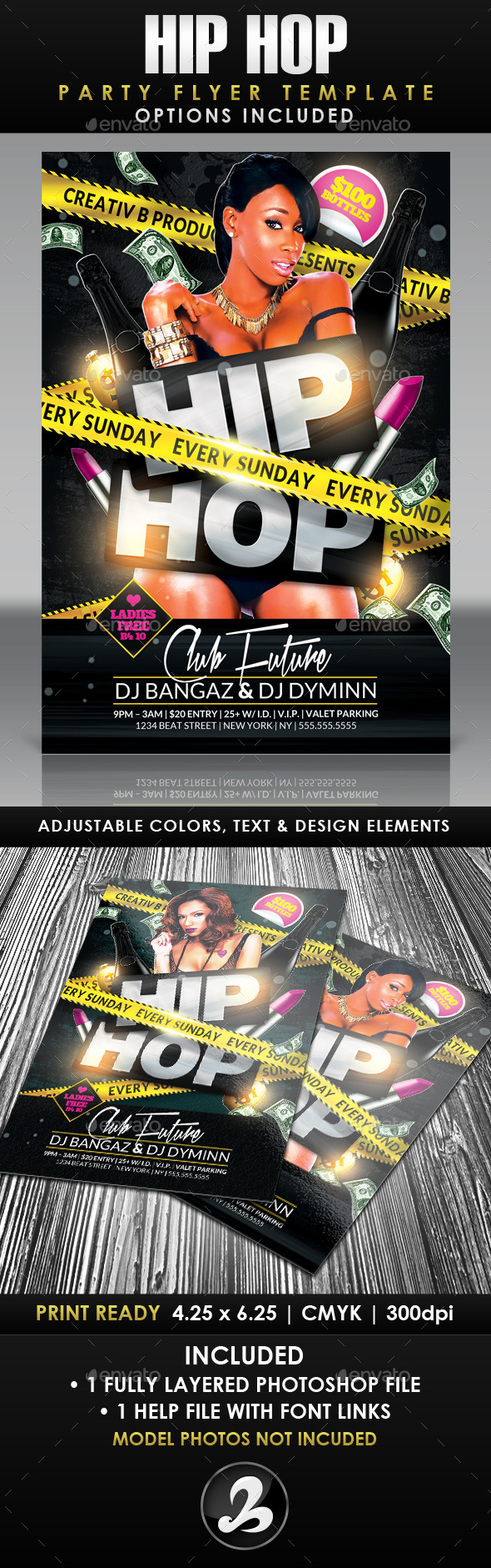 Hip Hop Party Flyer Template 2 - Events Flyers