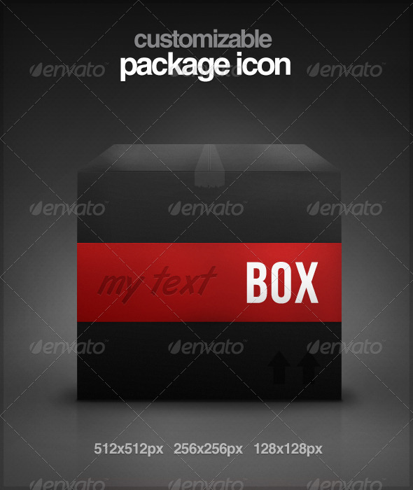 Customizable Package Icon - Web Icons