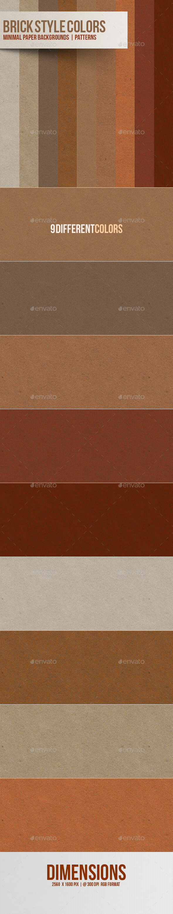 Minimal Paper BG | Patterns | Brick Style Colors - Patterns Backgrounds