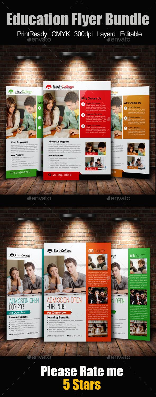 A4 education Flyer Template Bundle - Flyers Print Templates