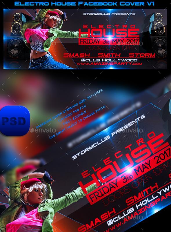 Electro House Facebook Cover V1 - Facebook Timeline Covers Social Media