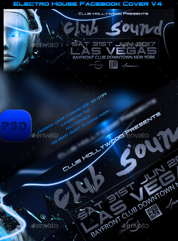 Electro House Facebook Cover V4 - Facebook Timeline Covers Social Media