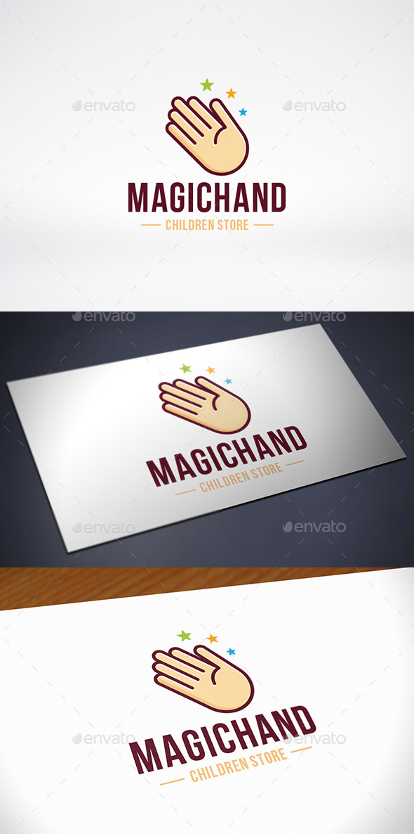 Magic Star Hand Logo Template - Humans Logo Templates