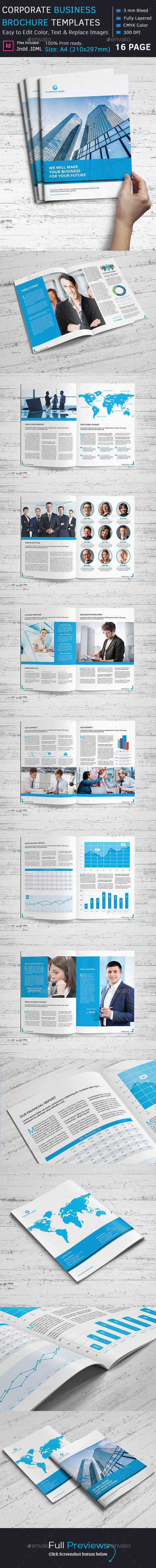 Corporate Business Brochure Template - Corporate Brochures