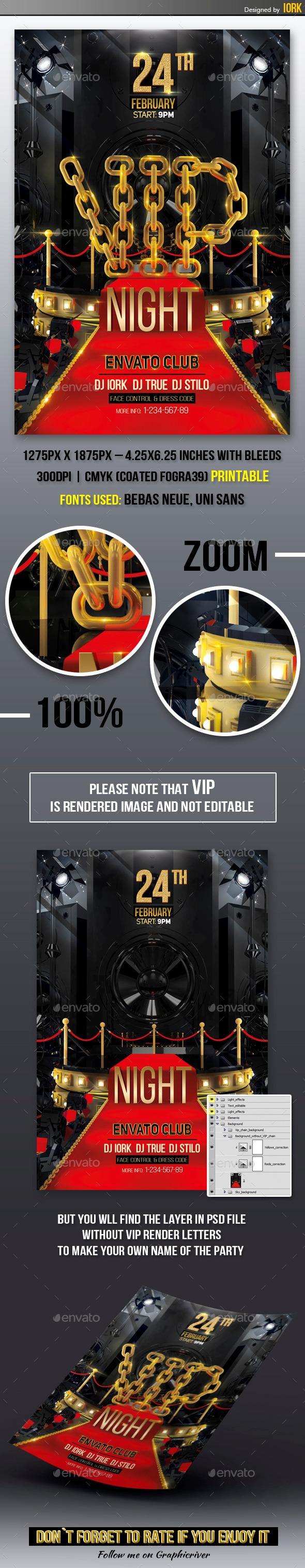 VIP Party Flyer - Flyers Print Templates