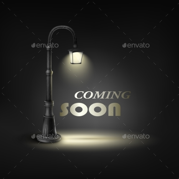 Coming Soon Under Street Lamp - Buildings Objects