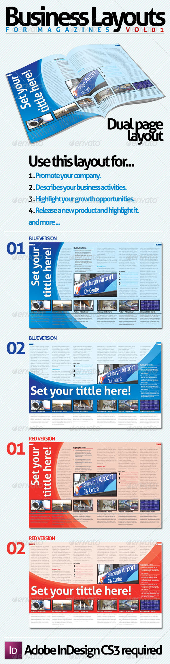 Business Layouts - VOL01 - Newsletters Print Templates