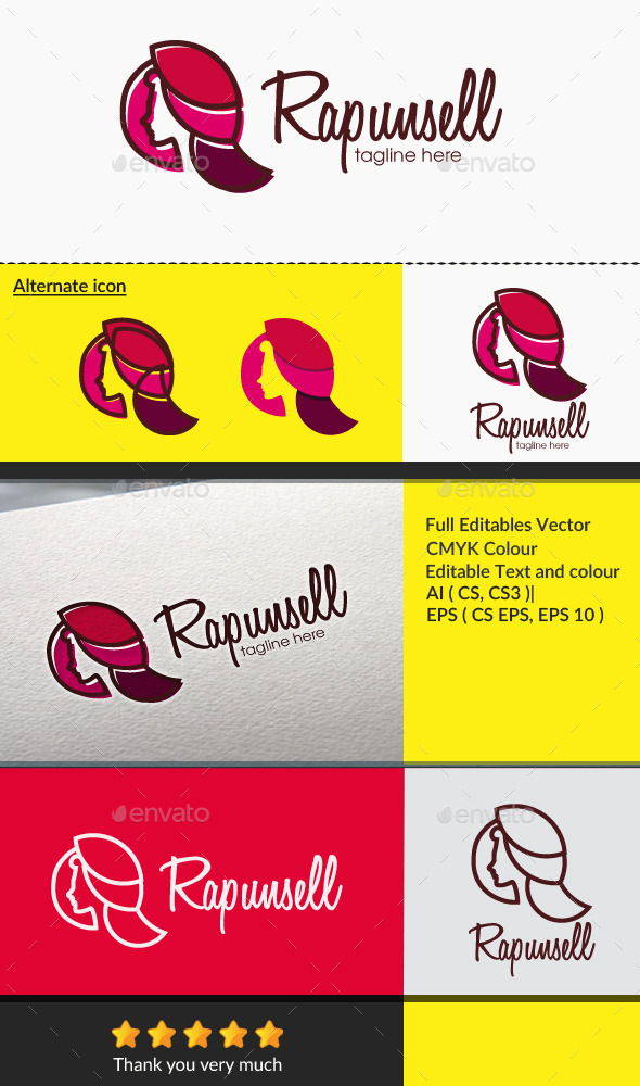 Rapunsel - Humans Logo Templates