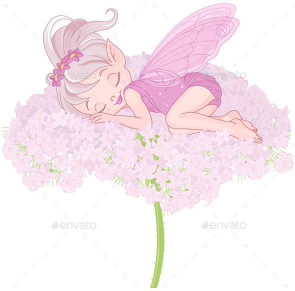Sleeping Pixy Fairy - People Characters