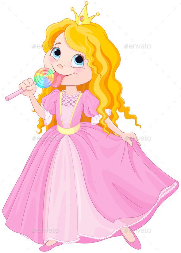 Princess Licks Lollipop - People Characters