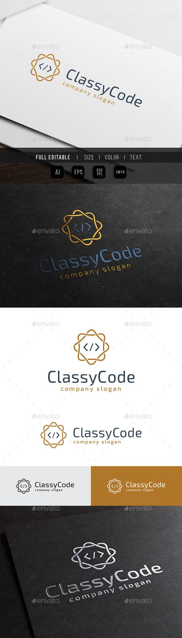 Premium Classy Code - Crests Logo Templates