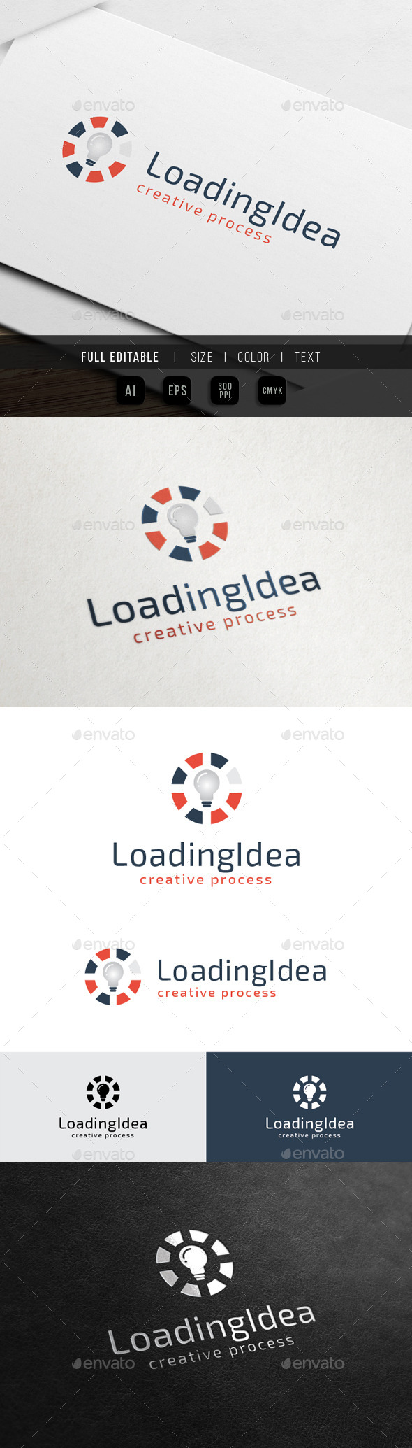 Load Idea - Creative Process - Symbols Logo Templates