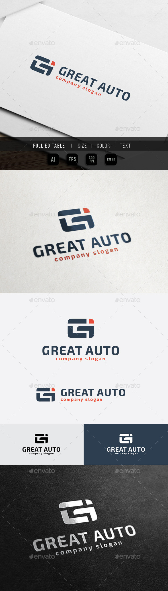 Great Auto - G / Gi letter - Letters Logo Templates