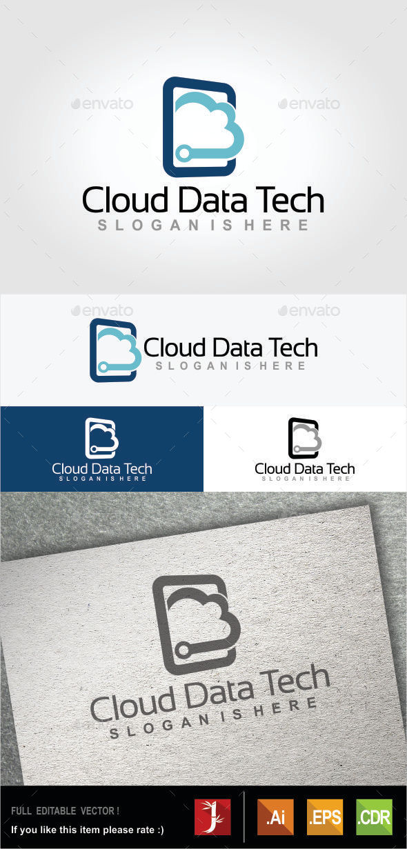 Cloud Data Tech - Symbols Logo Templates