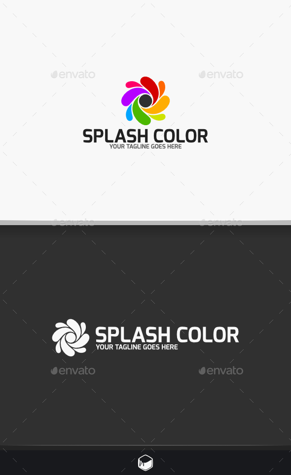 Splash Color Logo - Vector Abstract