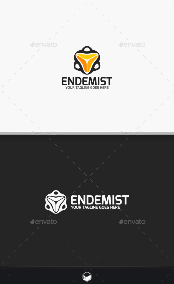 Tracker Endemist Logo - Vector Abstract