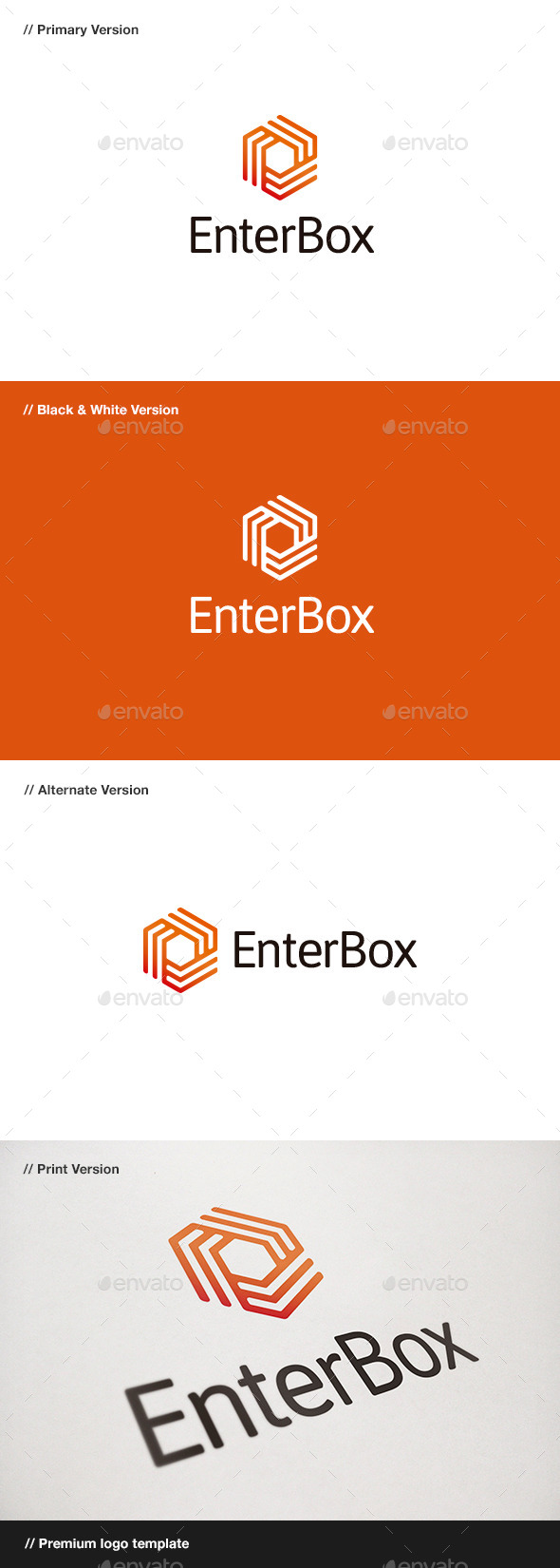 Enter Box Logo - Abstract Logo Templates