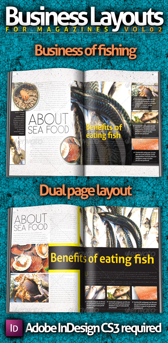 Business Layouts - VOL02 - Newsletters Print Templates