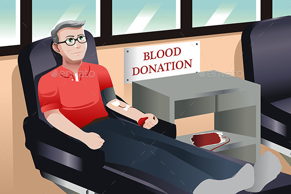 Blood Donation - People Characters