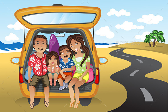 Family on a Road Trip - Travel Conceptual
