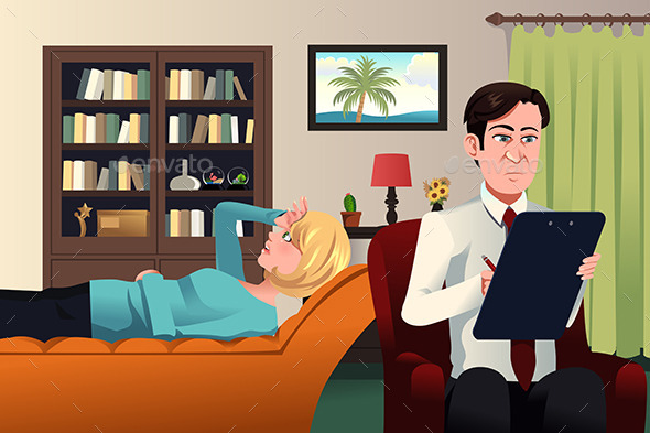 Psychiatrist Working with a Patient - Health/Medicine Conceptual