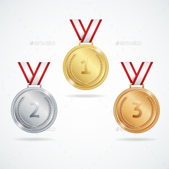 Medals Set - Objects Vectors