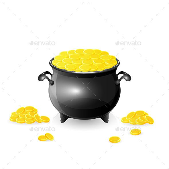 Cauldron with Coins - Miscellaneous Vectors
