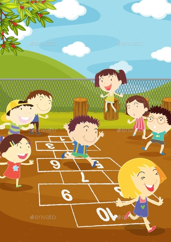 Hopscotch - People Characters