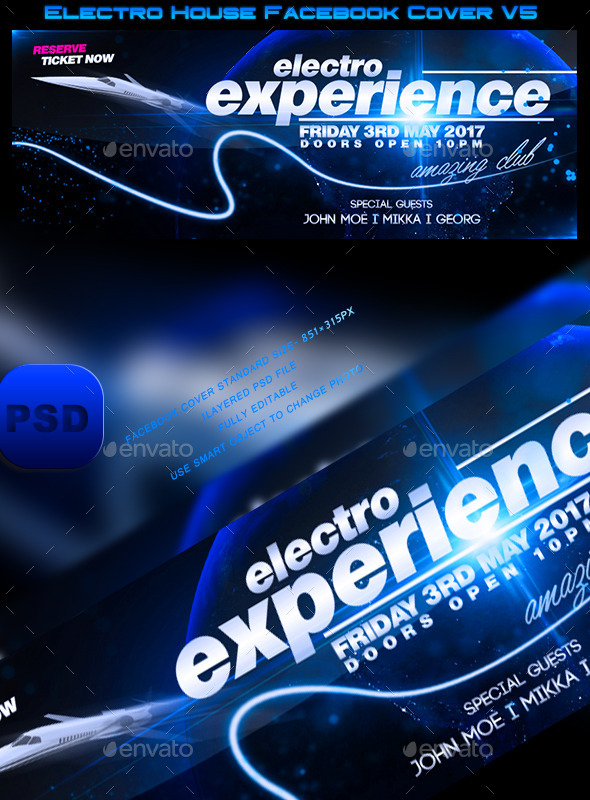 Electro House Facebook Cover V5 - Facebook Timeline Covers Social Media