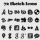 72 Sketch Social Icons  - GraphicRiver Item for Sale