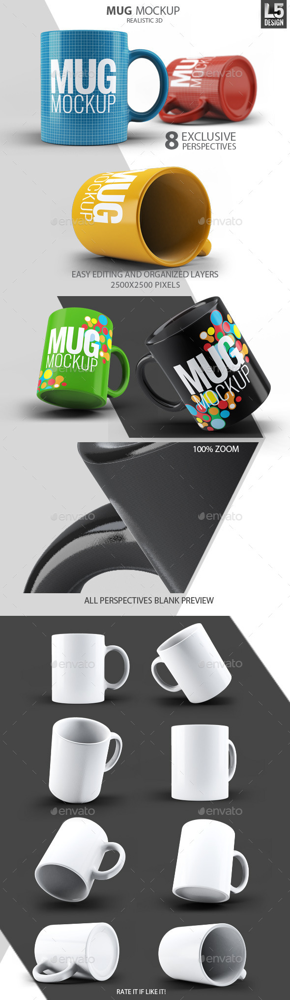 Mug Mock-Up - Food and Drink Packaging