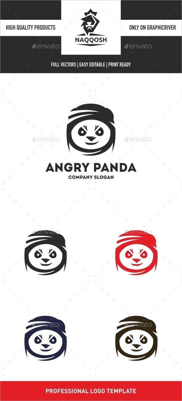 Angry Panda  - Logo Templates