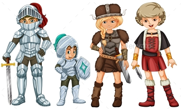 Four Fighters - People Characters