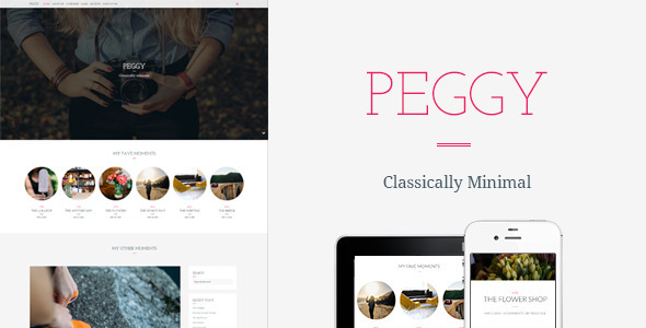Peggy - A Responsive WordPress Blog Theme - Personal Blog / Magazine