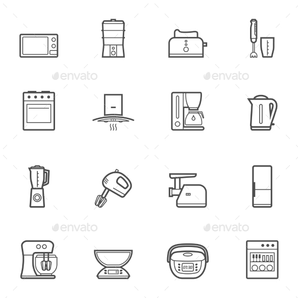 Kitchen Appliances  - Buildings Objects