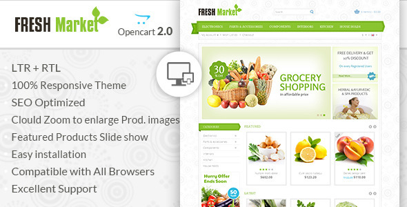 Fresh Market – OpenCart Responsive Theme